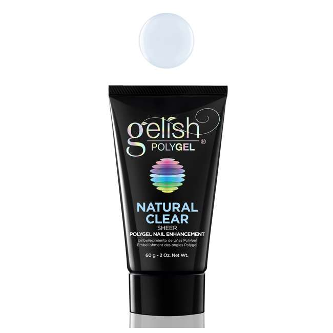 6 x 1712001-NATURAL Gelish PolyGel Nail Enhancement Natural Clear Sheer Shade, 2 Ounces (6 Pack) 1