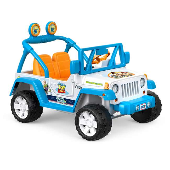 FYX48 Power Wheels Disney Pixar Toy Story Kids Electric 12V Car Ride On Jeep Wrangler