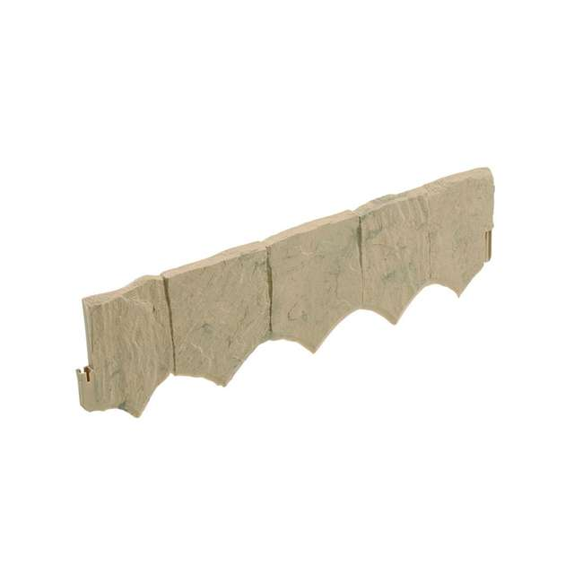 8 x CPLFSE10LT Suncast Landscape Design Border Decorative Natural Rock Plastic Edging (8 Pack)