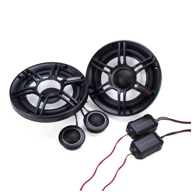 6 x CS-65C Crunch 300W Full-Range 2-Way Component Car Audio 6.5-Inch Speakers (6 Pack) 1