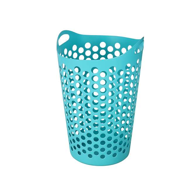 12 x FBA32518 Ezy Storage Flexi 15 Gallon Plastic Flex Laundry Basket Clothes Hamper (12 Pack) 4