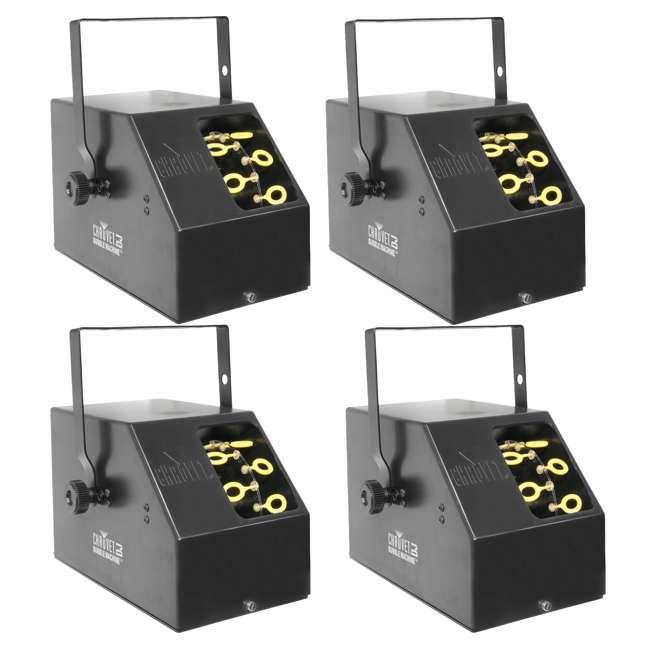 4 x B-250 Chauvet DJ B-250 Portable Pro Effect Party Bubble Machine (4 Pack)