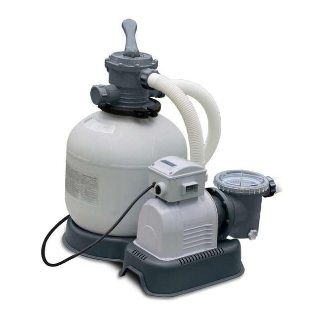 28651EG-U-A Intex Krystal Clear Above Ground Pool Sand Filter Pump (Open Box) (2 Pack)