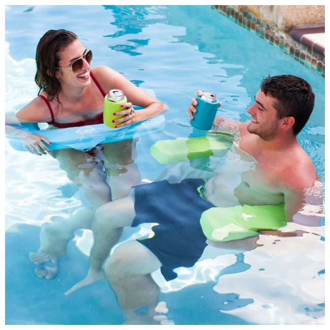 8210039 TRC Recreation Vinyl Covered Floating Aqua Swing Chair Pool/Spa Lounger, Green 3