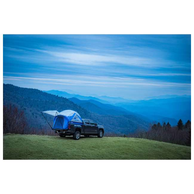 57011-U-B Napier Sportz 8.2 Ft. Easy Setup Full Size Long Truck Bed Tent, Blue/Gray (Used) 6