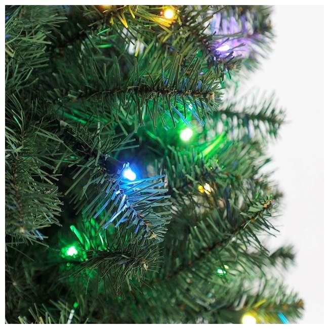 TG70CH119P00 Home Heritage 7' Color Blast Multiple Light Function Micro Dot LED Christmas Tree 4