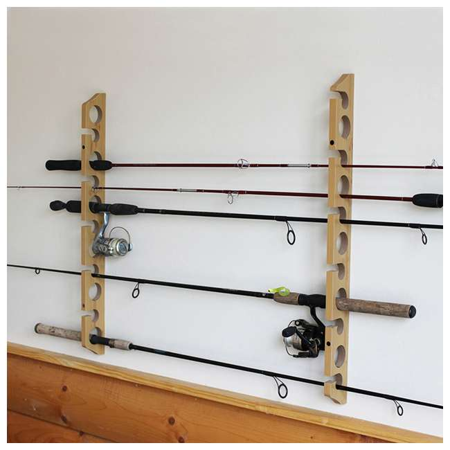 38-3017 Rush Creek Creations 38-3017 2 Piece 11 Pole 3 in 1 Wall and Ceiling Rod Rack 4