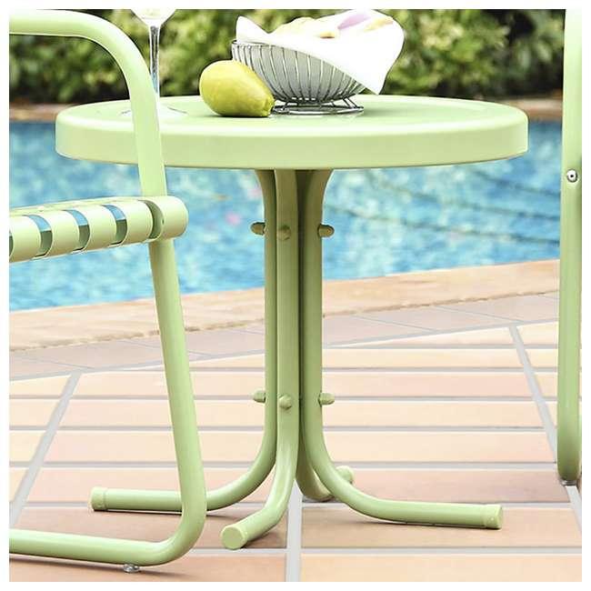 "CO1011A-GR-U-A Crosley Furniture 19"" x 22"" Retro Metal Patio Side Table, Green (Open Box) 1"