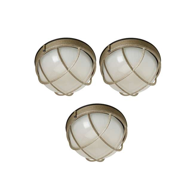 3 x PLC-F9039665N Philips Forecast Oceanview Wall Lantern (3 Pack)