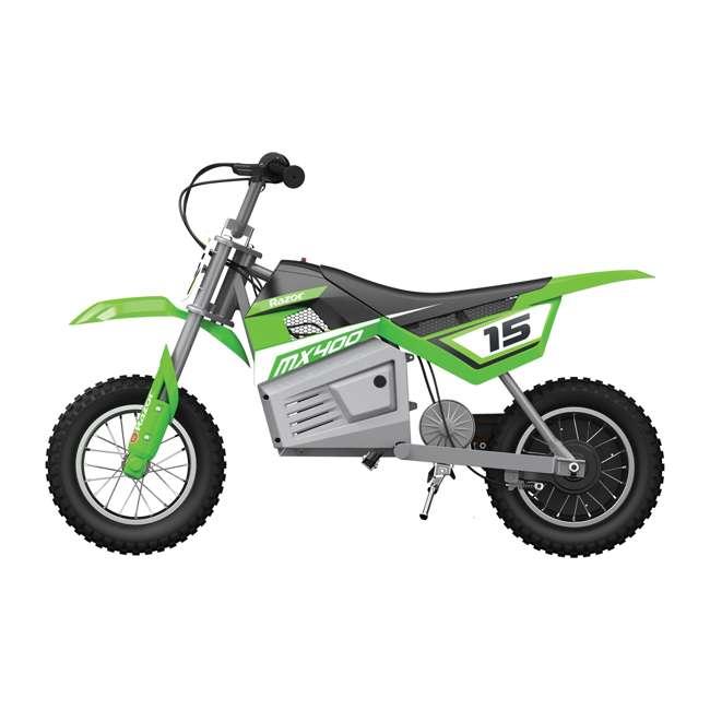 15128030 Razor MX400 Dirt Rocket Electric Motorcycle, Green (2 Pack) 3