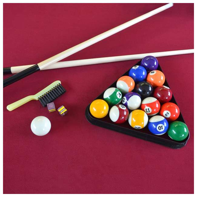 BL090Y19019 Lancaster 90 Inch Traditional Full Size Billiard Pool Table Set w/ Accessories 2