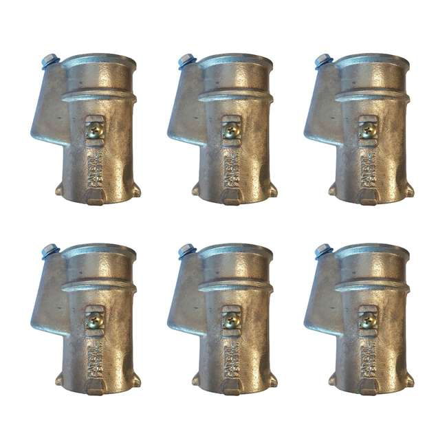 6 x BAS-1.90 Inter-Fab BAS-1.90 Bronze Anchor Socket for 1.9-Inch Handrail (6 Pack)