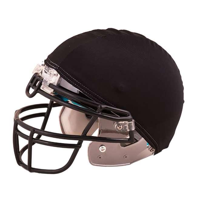 HCBK Champion Sports 12 Pack of Stretchable Nylon Football Helmet Covers, Black