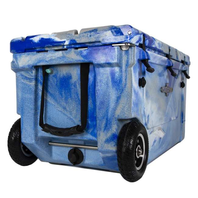HC75-17M WYLD 75 Quart Pioneer Dual Compartment Insulated Cooler w/ Wheels, Marine Blue 3