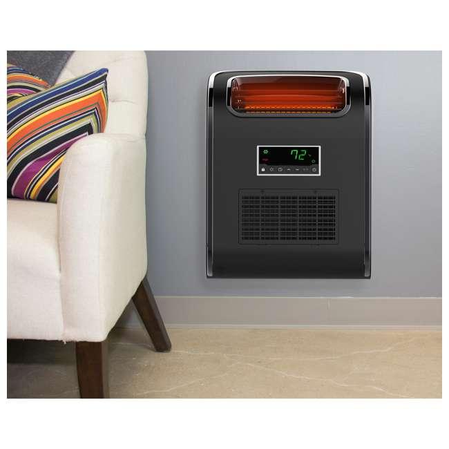 HT1153L Lifesmart HT1153L Slimline Wall Huggable 1500W Infrared Quartz Room Space Heater 4