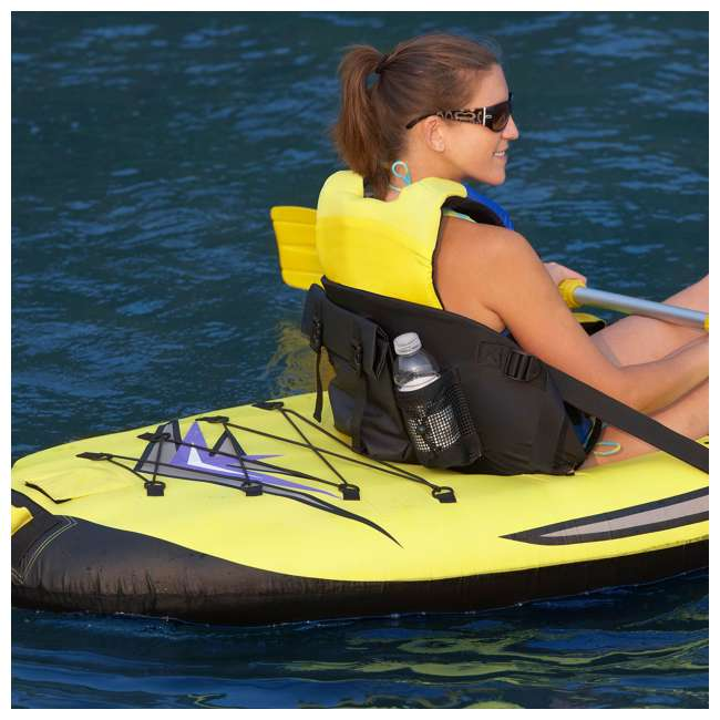 2365-RV RAVE Sports 1-person Sea Rebel Inflatable Kayak, Yellow  (2 Pack) 7