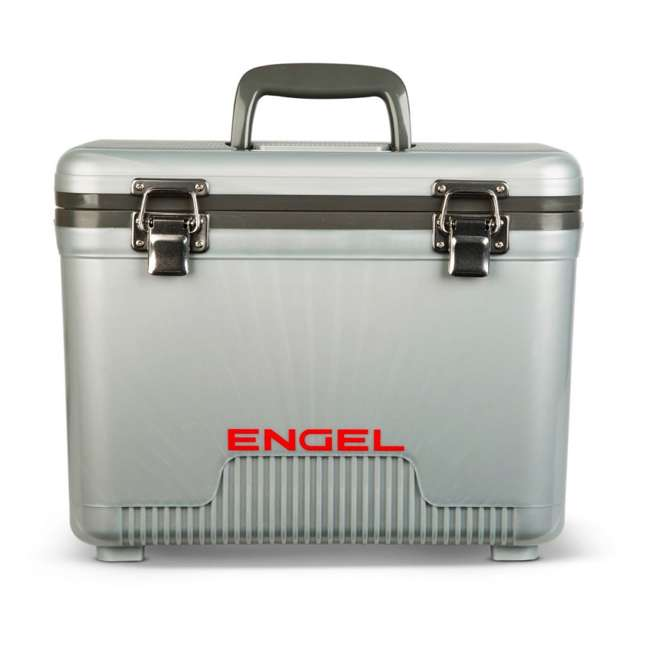 UC13S Engel 13-Quart Dry Box Cooler with Shoulder Strap, Silver