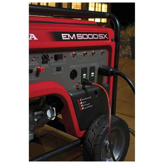 EM5000SXK3 Honda EM5000SXK3 5,000 Watt Portable Electric Commercial Engine Power Generator 4