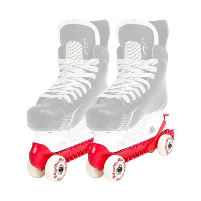44374-R Rollergard 44374-R Adjustable Kids Ice Skate Guard & Roller Skate, Red (Pair)