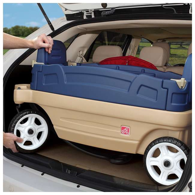 837200-U-A Step2 Whisper Ride Touring Wagon II 3-in-1 Toddler Outdoor Canopy Pull Wagon (Open Box) 5
