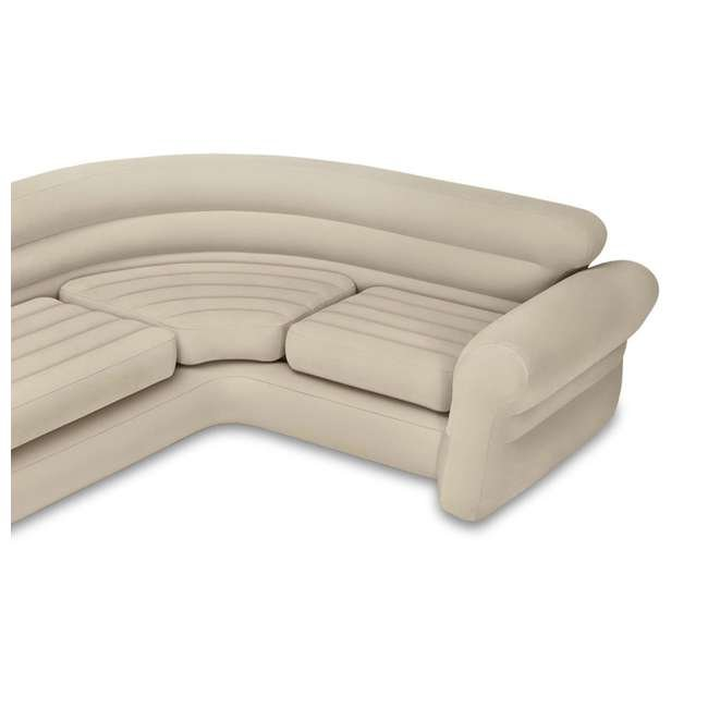 68575EP + 66623E Intex Inflatable Corner Sectional Sofa with Air Pump 3
