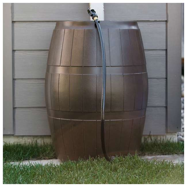 RC4000-BRN FCMP Outdoor RC4000-BRN 45-Gal BPA Free Home Rain Water Catcher Barrel (2 Pack) 5
