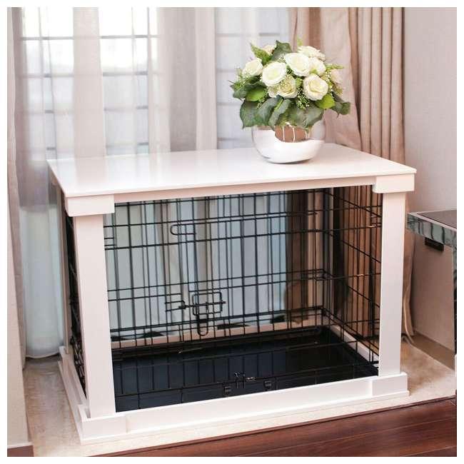 PTH0251720100 Zoovilla Decorative Dog Cat Cage Crate, White 2