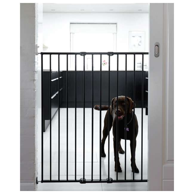 BBD-57614-2400 BabyDan 57614 Streamline Extra Tall 42 Inch Wall Mounted Pet Safety Gate, White 3