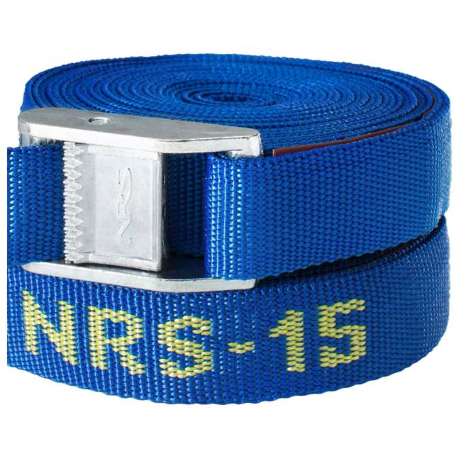 NRS_60001_01_107 NRS 1-Inch Long Heavy Duty Tie Down Strap, Blue (15 Feet) (2 Pack) 5