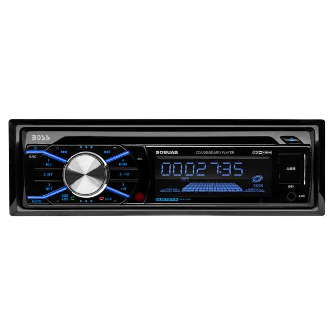 508UAB + FM-K0811 + FD-5520 + CHR-A16 Boss In Dash Car Stereo Audio Receiver + Mounting Kit + Wire Harness + Adapter 2