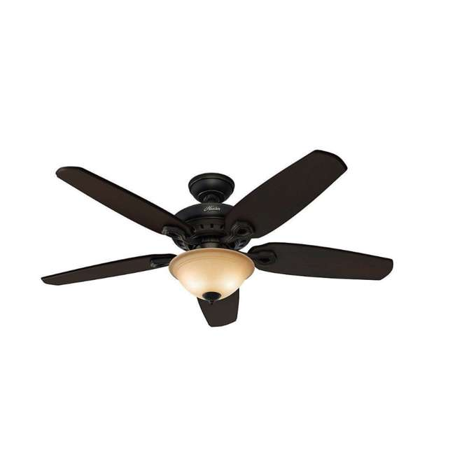 53033 Hunter Fairhaven 52 Inch Indoor Basque Black Ceiling Fan with Light Kit & Remote