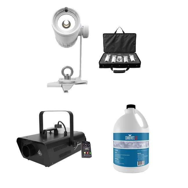 EZPIN-PACK4 + H1302 + FJU Chauvet DJ Stage Lights + Fog Machine + Fog Juice