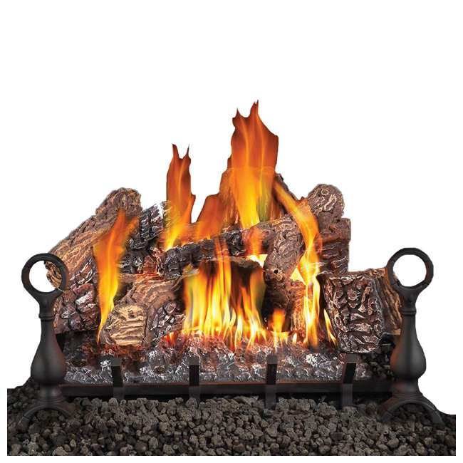 GL18NE-U-C Fiberglow 18 Inch Log Burner Set Insert for Natural Gas Fireplaces (For Parts)