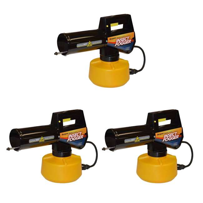 3 x BGS-16960110N Burgess 960 Backyard Electric Insect/Mosquito Fogger (3 Pack)