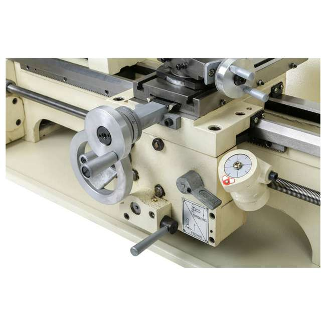 M1049 Shop Fox M1049 9 by 19 Inch Bench Top Metal Lathe with Three Jaw Scroll Chuck 3