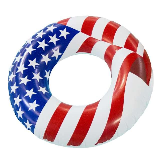 12 x 90196 Swimline 36 Inch Inflatable American Flag Swimming Pool Tube Float (12 Pack) 1