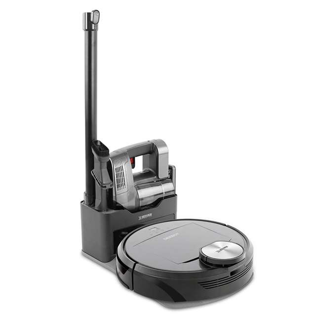 DEEBOTR98-U-C Ecovacs DEEBOT Robotics Bagless Multi Surface Vacuum & Mop, Black (For Parts)