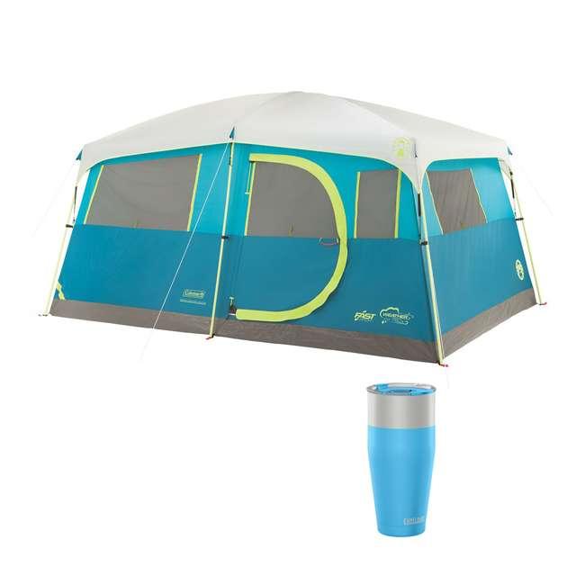 A-2000018088-G + CAMEL-1303402060 Coleman Tenaya Lake 8-Person Cabin Tent & CamelBak 30 Oz Tumbler