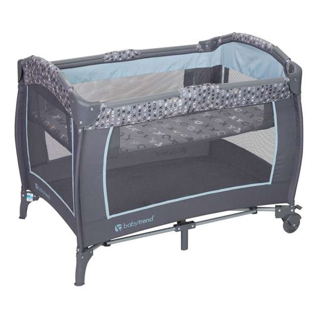 PY86B52B Baby Trend Trend-E Nursery Center Play Yard with Wheels, Starlight Blue (2 Pack) 2