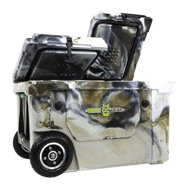 HC50-17P WYLD HC50-17P 50 Qt. Dual Compartment Insulated Cooler w/ Wheels, Prairie Camo