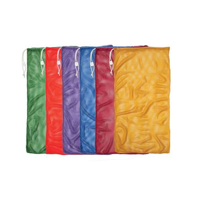 MB22SET Champion Sports 48 x 24 Mesh Drawstring Sport Equipment Bags, Set of 6 Colors
