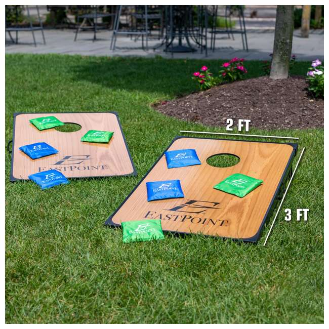 1-1-16939-DS Eastpoint Sports 1-1-16939-DS Deluxe Traditional Bean Bag Toss Cornhole Set 3