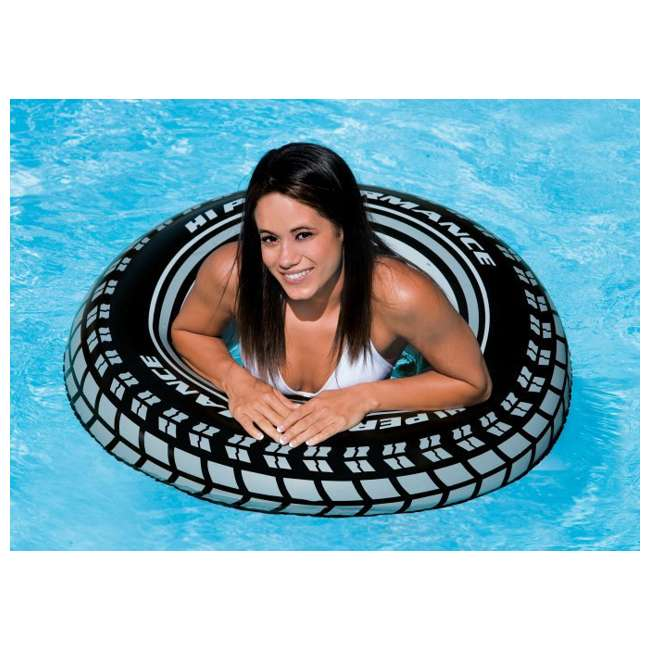 8 x 59252EP-U-A INTEX  Giant Tire Inflatable Floating Swimming Tube Raft  |  (Open Box) (8 Pack)