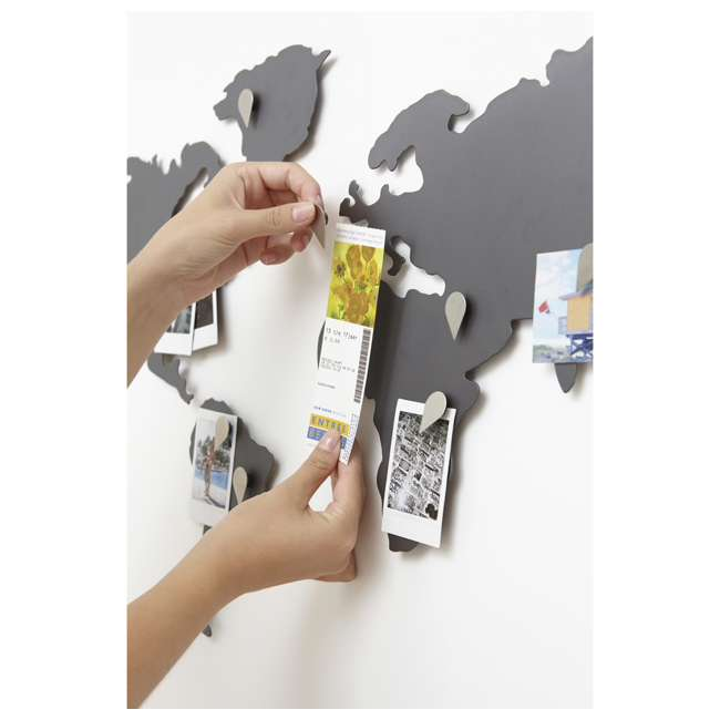 1008050-624 Umbra Mappit Metal World Map Wall Art Decor 4