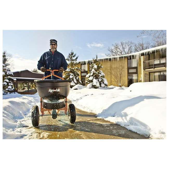 45-0502 Agri-fab 130 Pound Push Spreader for Ice Melt and Fertilizer 1