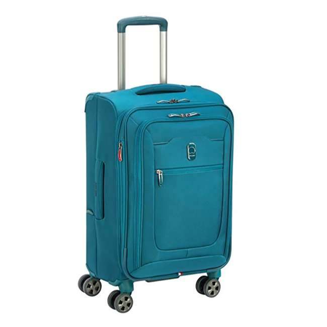 40229194732 DELSEY Paris 4 Sized Reliable Hyperglide Softside Travel Luggage Bag Set, Teal 5