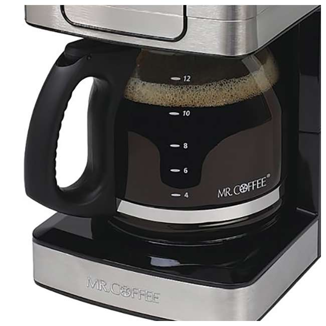 Mr. Coffee 12-Cup Programmable Coffee Maker, Stainless Steel : JWX36S
