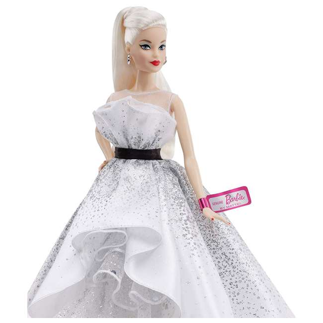 FXD88 Mattel FXD88 Barbie 60th Anniversary Doll Collector Toy in Silver Ball Gown 1