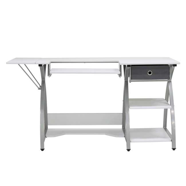 STDN-38018 Sew Ready STDN-38018 Venus Sewing Machine Craft Table Computer Desk, Silver 8