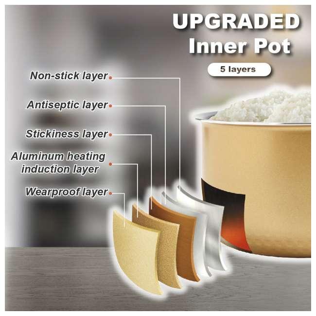 ARC-6106-U-A Aroma Professional 12 Cup Rice & Multi Cooker & Steamer w/ Utensils (Open Box) 3
